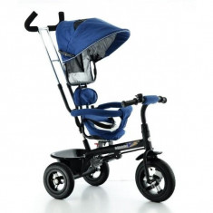 Tricicleta EURObaby cu scaun rotativ T306E - Albastru - Tricicleta copii