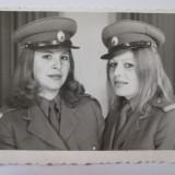 Fotografie 85 X 65 mm eleve subofiteri de militie 1975 - Fotografie veche