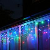 Promo - Instalatie  Craciun tip turturi 160 Led-uri Multicolora, Albastra, Alba