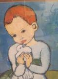 PICCASO - COPIL CU PORUMBEL - REPRODUCERE, Pablo Picasso, Portrete