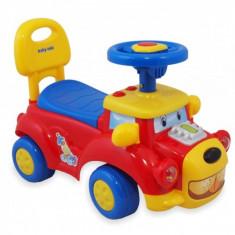 Masinuta Fara Pedale Catelus Rosu Cu Sunete Baby Mix De Impins Pentru Copii