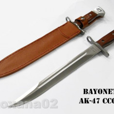 CUTIT. SABIE. BAIONETA AK 47 CCCP. TEACA INCLUSA. MACETA. BAIONETA AK47 - Briceag/Cutit vanatoare