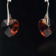 Cercei Swarovski Heart 14mm
