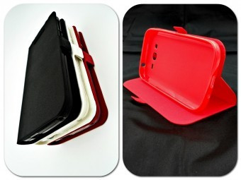 Husa FlipCover Stand Magnet Allview X3 Soul Style ROSU foto