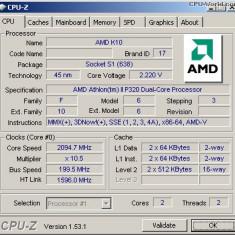 AMD Athlon II TURION X64 P320 2.1ghz/dual core X64 socket S1G4 - Procesor laptop AMD, 2000-2500 Mhz, Numar nuclee: 2