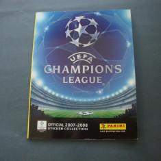 Album Panini UEFA Champions League 2007 – 2008 cu 48 de stickere lipite