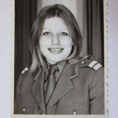 Fotografie 85 X 58 mm eleva subofiter de militie 1975 - Fotografie veche