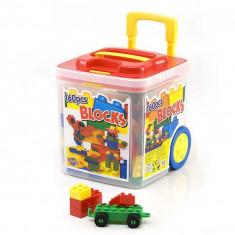 Jucarie Chipolino cuburi in galetusa 160 piese - Vehicul