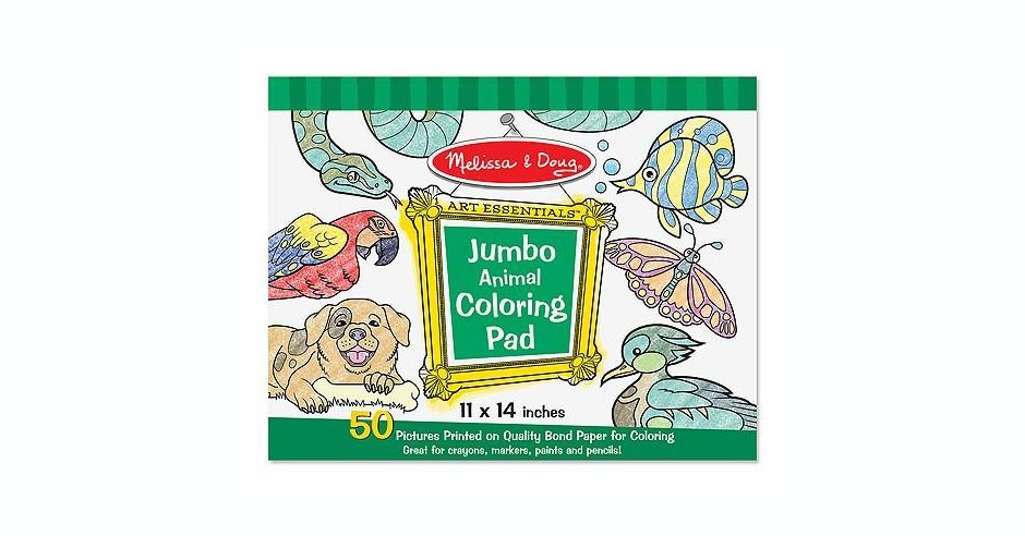 Caiet Jumbo Cu Planse Pentru Colorat Animale Melissa And
