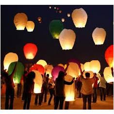 Lampioane zburatoare - Lampion chinezesc - Culori multiple !