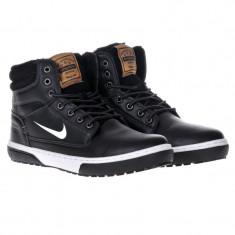 Bocanci NIKE - inblaniti - Bocanci barbati Nike, Marime: 43, 44, Culoare: Negru, Piele sintetica
