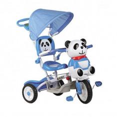 Tricicleta EURObaby Panda A23-3 - Albastru - Tricicleta copii