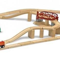 Melissa&Doug - Set Trenulet din lemn cu pod pivotant - Vehicul
