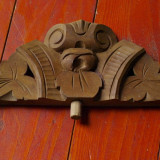 vechi ornament din lemn sculptat pentru mobila oglinda sau ceas !!!