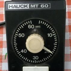 Programator, temporizator 0 - 60s, 250v, 3 A - macanic, calitate foarte buna - Releu