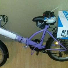 Bicicleta Scirocco Foldo Street mov/ Vand Urgent/Pret Negociabil - Bicicleta pliabile, 20 inch, Numar viteze: 6