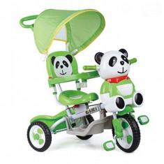 Tricicleta EURObaby Panda A23-3 - Verde - Tricicleta copii