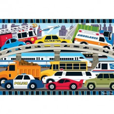 Puzzle Melissa & Doug de podea Blocaj in trafic Melissa and Doug