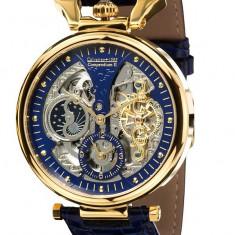 Ceas automatic Calvaneo 1583 Compendium aur 18k original - Ceas barbatesc Calvaneo, Lux - elegant, Mecanic-Automatic, Placat cu aur, Piele, Data