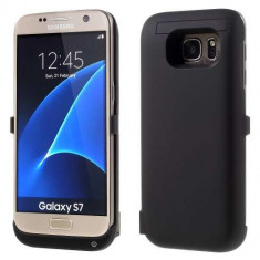 Husa Acumulator Extern Samsung Galaxy S7 G930 6500mAh Neagra - Accesoriu Proiectie Aparate Foto