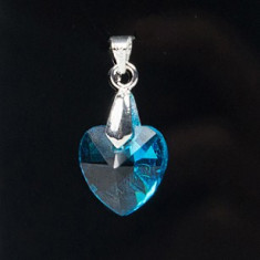 Pandantiv Swarovski Heart 14mm din Argint 925