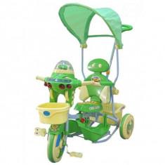 Tricicleta EURObaby 2890AC - Verde - Tricicleta copii