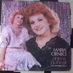 Maria Cîrneci Carneci Muzica Lautareasca electrecord populara album disc vinyl lp, VINIL