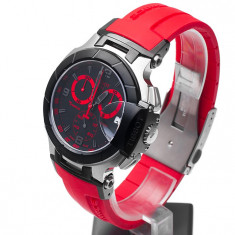 Ceas barbatesc Tissot T-Race Mens Watch RED, Quartz, Cauciuc, Analog, Diametru carcasa: 45