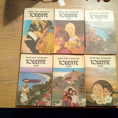 TORENTE * 6 vol. - Marie-Anne Desmarest - Editura Porus, 1992 - Roman dragoste