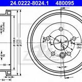 Tambur frana - ATE 24.0222-8024.1