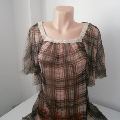 Bluza de dama, maro,vaporoasa,marimea L-XL!