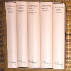 I. L. Caragiale OPERE 5 volume ed. de lux velina set complet 2011