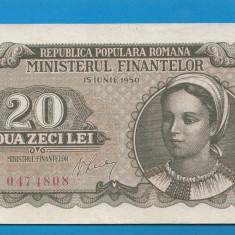 20 lei 1950 7 aUNC - Bancnota romaneasca