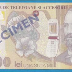 Bon 100000 lei 2001 EURO GSM 2 UNC - Bancnota romaneasca