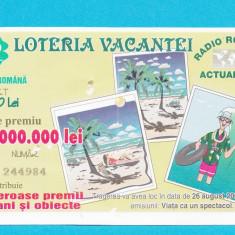 Bilet loto 5000 lei 2001 Loteria vacantei 1 - Bilet Loterie Numismatica