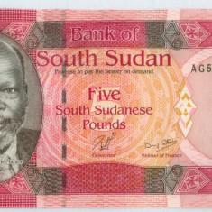 SUDANUL DE SUD - 5 pounds 2011 - UNC - bancnota africa