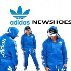 Trening Adidas Barbati Primavara-Model NOU - Trening barbati, Marime: S, M, L, XL, XXL, Culoare: Albastru, Bumbac