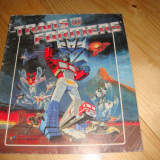 Album Panini Transformers 1986 cu 127 de stickere lipite