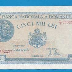 5000 lei 1944 15 Decembrie 4 aUNC - Bancnota romaneasca