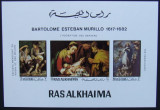 RAS AL KHAIMA - PICTURA MURILLO, 1 M/SH NEDANTELATA, NEOBLITERATA - RAK 15C