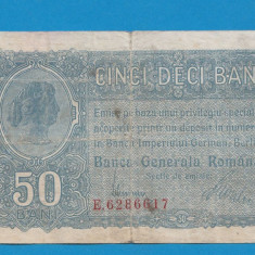 50 bani 1917 2 BGR - Bancnota romaneasca