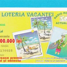 Bilet loto 5000 lei 2001 Loteria vacantei 2 - Bilet Loterie Numismatica