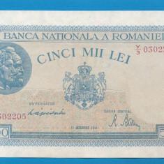5000 lei 1944 15 Decembrie 7 aUNC - Bancnota romaneasca