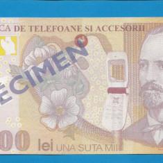 Bon 100000 lei 2001 EURO GSM 1 UNC - Bancnota romaneasca