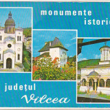 Bnk cp Jud Valcea - Monumentele istorice - necirculata - marca fixa - Carte Postala Oltenia dupa 1918, Printata