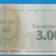 Bon 3000 euro Readers Digest 2 UNC - Bancnota romaneasca