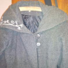Palton de iarna - Palton barbati, M, Lana, Gri