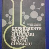 Experimente chimice si lucrari de cerc / R1S - Carte Chimie