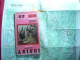 V.Sencu - Colectia Muntii Nostri - Muntii Aninei 1978 ,harta pliata