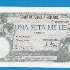 100000 lei 1946 20 decembrie 2 XF - Bancnota romaneasca